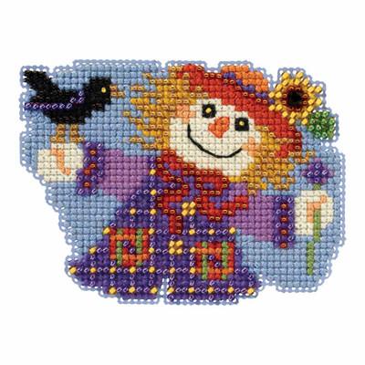 Sally Scarecrow Bead Cross Stitch Kit Mill Hill 2017 Autumn Harvest MH181723