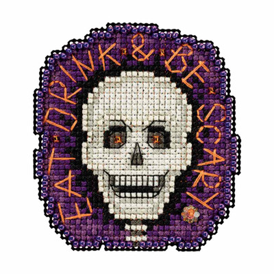 Be Scary Bead Cross Stitch Kit Mill Hill 2017 Autumn Harvest MH181725
