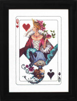 Royal Games Queen of Hearts LINEN Kit (Cross Stitch Chart, Fabric,  Beads, Braid) MD150 Mirabilia