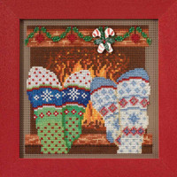 Cozy Feet Cross Stitch Kit Mill Hill 2017 Buttons Beads Winter MH141733
