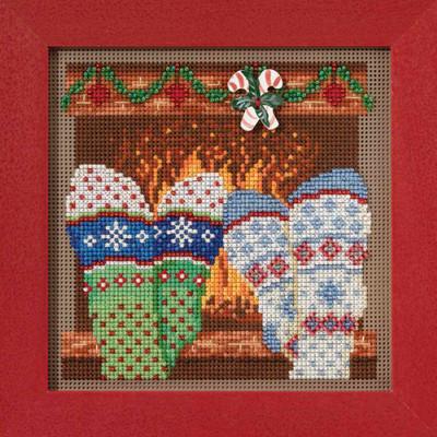 Cozy Feet Cross Stitch Kit Mill Hill 2017 Buttons Beads Winter MH141733
