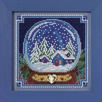 Snow Globe Cross Stitch Kit Mill Hill 2017 Buttons Beads Winter MH141734