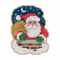 Down the Chimney Cross Stitch Ornament Kit Mill Hill 2017 Winter Holiday MH181731