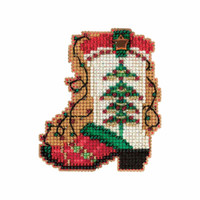 Holiday Boot Cross Stitch Ornament Kit Mill Hill 2017 Winter Holiday MH181736