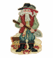 Barbados Santa Cross Stitch Kit Mill Hill 2017 Caribbean Santas MH201733