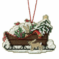 Woodland Sleigh Cross Stitch Kit Mill Hill 2017 Sleigh Ride MH161735