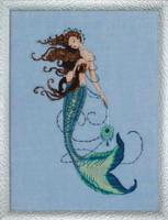Renaissance Mermaid Kit Cross Stitch Chart, Fabric, Beads, Braid, Silk Floss MD151 Mirabilia Designs