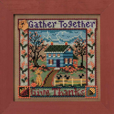 Gather Together Cross Stitch Kit Mill Hill 2010 Buttons & Beads Autumn