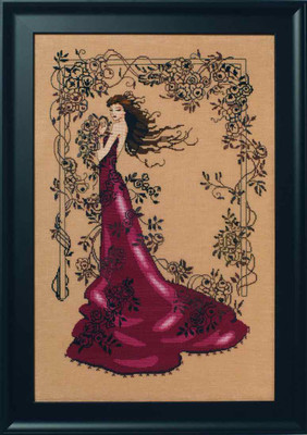 Lady of Mystery Kit Cross Stitch Chart Fabric Beads Silk Floss MD152 Mirabilia Designs