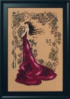 Lady of Mystery Kit Cross Stitch Chart Fabric Beads Silk Floss MD152 Mirabilia Designs