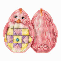 Pink Chick Counted Cross Stitch Easter Kit Mill Hill 2017 Jim Shore JS181715
