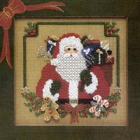 I Believe Bead Cross Stitch Kit Mill Hill 1996 Buttons & Beads Winter