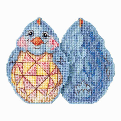 Blue Chick Counted Cross Stitch Easter Kit Mill Hill 2017 Jim Shore JS181711