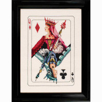 Royal Games Queen of Diamonds Kit Cross Stitch Chart Fabric Beads Braid MD154