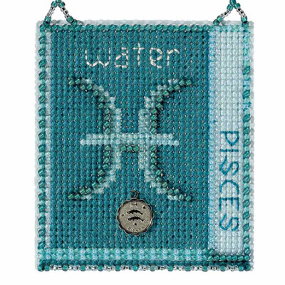 Pisces Cross Stitch Kit Mill Hill 2018 Zodiac Ornaments MH161826