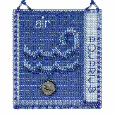 Aquarius Cross Stitch Kit Mill Hill 2018 Zodiac Ornaments MH161825