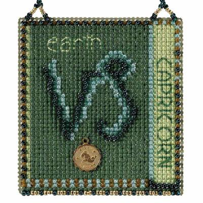 Capricorn Cross Stitch Kit Mill Hill 2018 Zodiac Ornaments MH161824