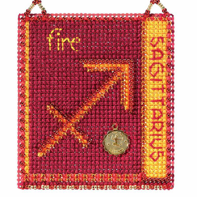 Sagittarius Cross Stitch Kit Mill Hill 2018 Zodiac Ornaments MH161823