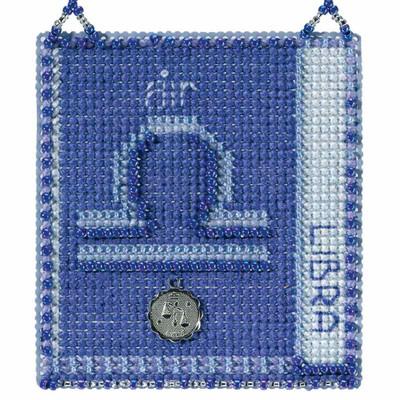 Libra Cross Stitch Kit Mill Hill 2018 Zodiac Ornaments MH161821