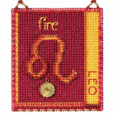 Leo Cross Stitch Kit Mill Hill 2018 Zodiac Ornaments MH161815