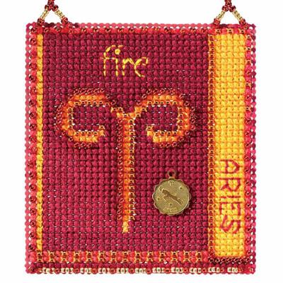 Aries Cross Stitch Kit Mill Hill 2018 Zodiac Ornaments MH161811