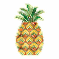 Pineapple Beaded Cross Stitch Kit Mill Hill 2018 Spring Bouquet MH181816