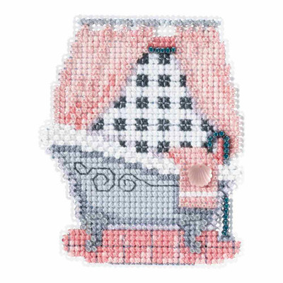 Classic Bathtub Beaded Cross Stitch Kit Mill Hill 2018 Spring Bouquet MH181814