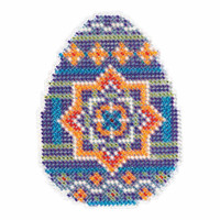 Medallion Egg Beaded Cross Stitch Kit Mill Hill 2018 Spring Bouquet MH181812