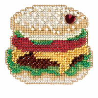 Hamburger Beaded Cross Stitch Kit Mill Hill 2018 Spring Bouquet MH181811