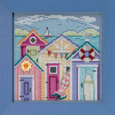 Cabana Beach Cross Stitch Kit Mill Hill 2018 Buttons & Beads Spring MH141815