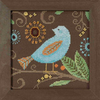 Aqua Bird Cross Stitch Kit Mill Hill 2018 Debbie Mumm Out On A Limb DM301814