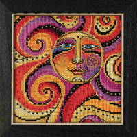Celestial Sun Cross Stitch Kit Mill Hill 2018 Laurel Burch LB141812
