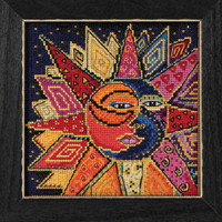 Sun and Moon Dance Cross Stitch Kit Mill Hill 2018 Laurel Burch Celestial LB141814
