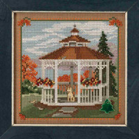 Gazebo Cross Stitch Kit Mill Hill 2018 Buttons & Beads Autumn MH141825