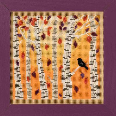 Autumn Woods Cross Stitch Kit Mill Hill 2018 Buttons & Beads Autumn MH141823