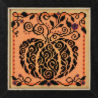 Enchanted Pumpkin Cross Stitch Kit Mill Hill 2018 Buttons & Beads Autumn MH141821