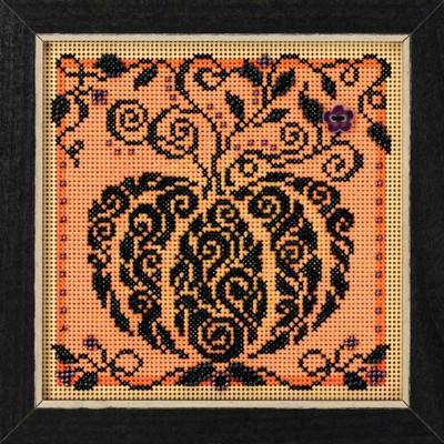 Enchanted Pumpkin Cross Stitch Kit Mill Hill 2018 Buttons & Beads Autumn MH141821
