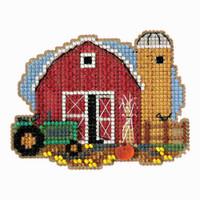 Harvest Barn Bead Cross Stitch Kit Mill Hill 2018 Autumn Harvest MH181821