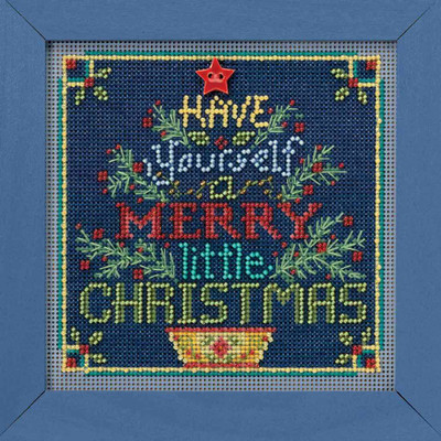 Merry Little Christmas Cross Stitch Kit Mill Hill 2018 Buttons Beads Winter MH141831
