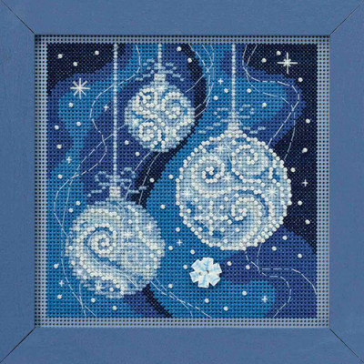 Ornament Elegance Cross Stitch Kit Mill Hill 2018 Buttons Beads Winter MH141835