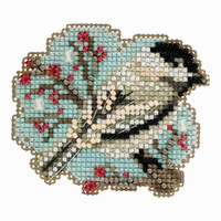 Little Chickadee Cross Stitch Ornament Kit Mill Hill 2018 Winter Holiday MH181831