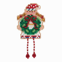 Holli Elf Cross Stitch Ornament Kit Mill Hill 2018 Winter Holiday MH181832
