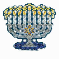 Menorah Cross Stitch Ornament Kit Mill Hill 2018 Winter Holiday MH181833