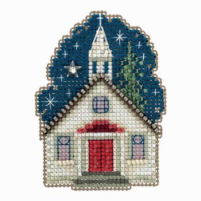 Sunday Night Cross Stitch Ornament Kit Mill Hill 2018 Winter Holiday MH181834