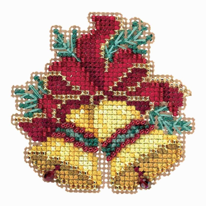 Christmas Bells Images.Christmas Bells Cross Stitch Ornament Kit Mill Hill 2018 Winter Holiday Mh181835