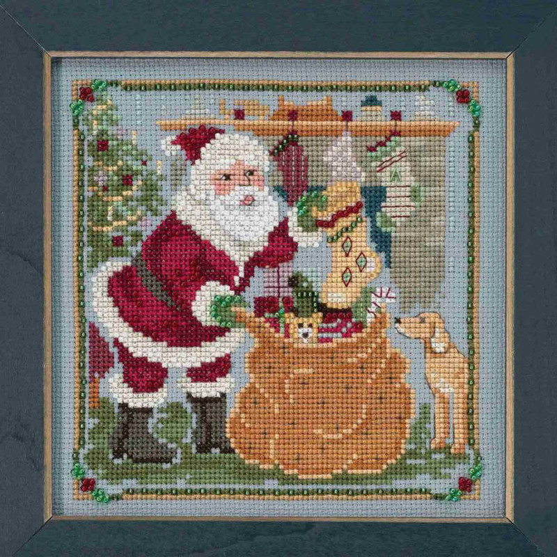 Jolly St Nick Beaded Cross Stitch Kit Mill Hill 2015 Buttons /& Beads Winter