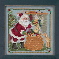 Jolly Old Elf Cross Stitch Kit Mill Hill 2018 A Visit From St Nick Quartet MH171833