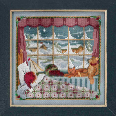 Children Were Nestled Cross Stitch Kit Mill Hill 2018 A Visit From St Nick Quartet MH171832