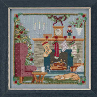 Stockings Were Hung Cross Stitch Kit Mill Hill 2018 A Visit From St Nick Quartet MH171831