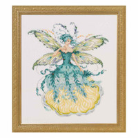 March Aquamarine Fairy Kit Cross Stitch Chart Fabric Beads Braid MD159 Mirabilia Nora Corbett